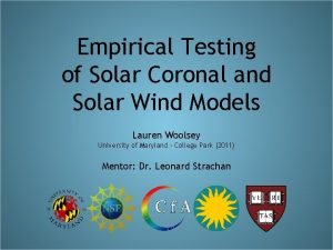 Empirical Testing of Solar Coronal and Solar Wind