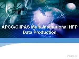 APCCCli PAS MultiInstitutional HFP Data Production Cli PAS