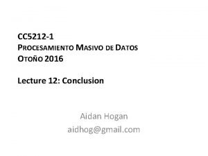 CC 5212 1 PROCESAMIENTO MASIVO DE DATOS OTOO