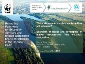 Promoting Payments for Ecosystem Services and related sustainable