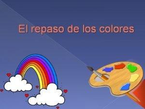 El repaso de los colores Qu color es