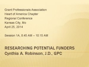 Grant Professionals Association Heart of America Chapter Regional