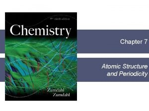 AP Chapter 7 Atomic Structure and Periodicity Section