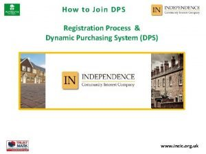 How to Join DPS Registration Process Dynamic Purchasing