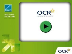 OCR Level 3 Cambridge Technicals in Health and