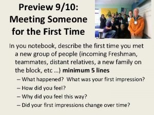 Preview 910 Meeting Someone for the First Time