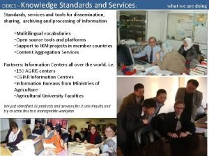 OEKCS Knowledge Standards and Services Standards services and
