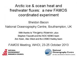 Arctic ice ocean heat and freshwater fluxes a