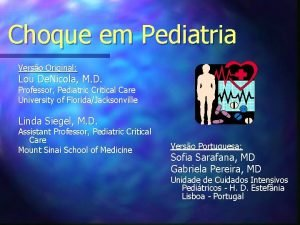 Choque em Pediatria Verso Original Lou De Nicola