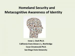 Homeland Security and Metacognitive Awareness of Identity Irene