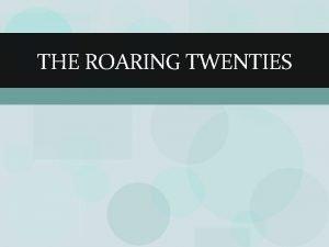 THE ROARING TWENTIES Warren G Harding Creditor Nation