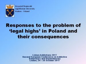 Krzysztof Krajewski Jagiellonian University Krakow Poland Responses to