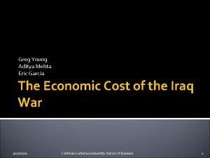Greg Young Aditya Mehta Eric Garcia The Economic