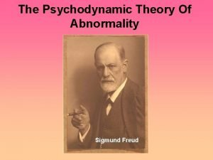 The Psychodynamic Theory Of Abnormality Sigmund Freud Basic