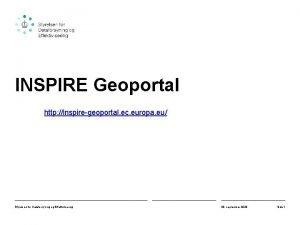 INSPIRE Geoportal http inspiregeoportal ec europa eu Styrelsen