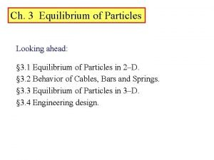 Ch 3 Equilibrium of Particles Looking ahead 3