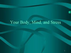 Your Body Mind and Stress 1 Body Image