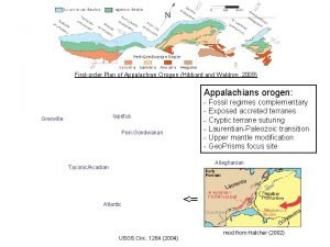 Firstorder Plan of Appalachian Orogen Hibbard and Waldron