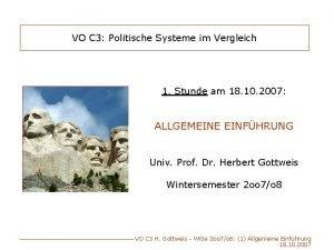 VO C 3 Politische Systeme im Vergleich 1