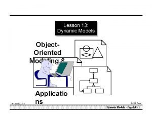 Lesson 13 Dynamic Models Object Oriented Modeling MEFOOMAL