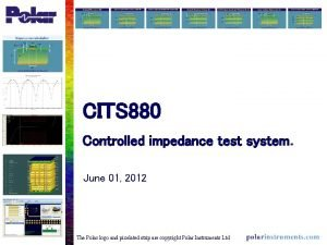 CITS 880 Controlled impedance test system June 01