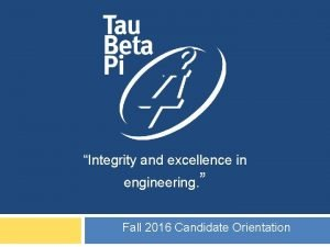 Integrity CA and excellence in UCLA EPSILON Fall