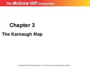 Chapter 3 The Karnaugh Map Copyright The Mc