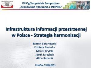 VII Oglnopolskie Sympozjum Krakowskie Spotkania z INSPIRE Infrastruktura