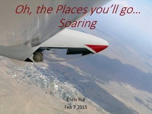 Oh the Places youll go Soaring Chris Ruf