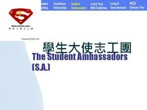 The Student Ambassadors S A Student AmbassadorsSA SA