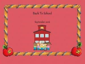 Back To School September 2016 Happy Feliz jueves