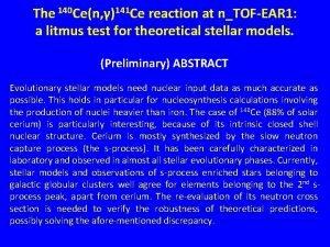The 140 Cen 141 Ce reaction at nTOFEAR
