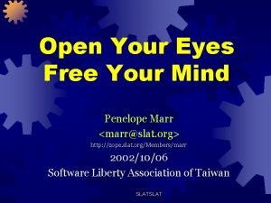 Open Your Eyes Free Your Mind Penelope Marr