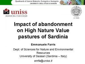 Impact of abandonment on High Nature Value pastures