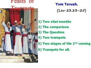 Feasts of Trumpets Yom Teruah Lev 23 23