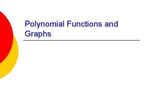 Polynomial Functions and Graphs AATA IB HR Date