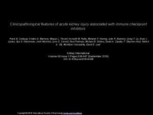 Clinicopathological features of acute kidney injury associated with