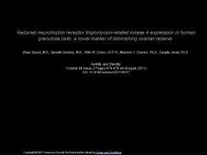Reduced neurotrophin receptor tropomyosinrelated kinase A expression in