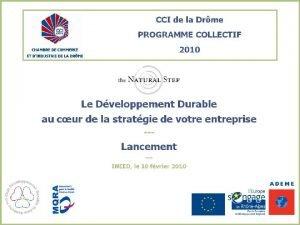 SOMMAIRE Prsentation Introduction au programme collectif et objectifs