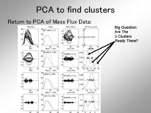 PCA to find clusters Return to PCA of