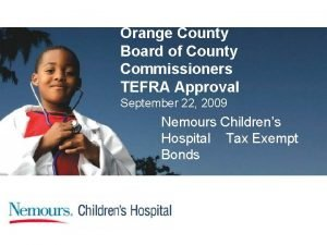 Orange County Board of County Commissioners TEFRA Approval