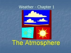 Weather Chapter 1 The Atmosphere What is weather