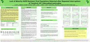 Lack of Minority K 65 R Resistant Viral