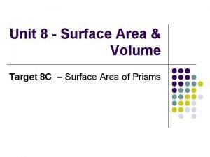 Unit 8 Surface Area Volume Target 8 C