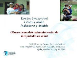 2005 Reunin Internacional Gnero y Salud Indicadores y