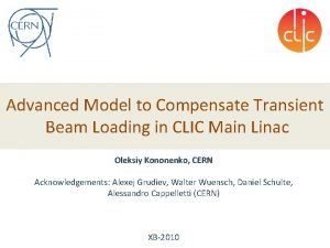Advanced Model to Compensate Transient Beam Loading in