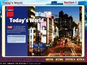 Todays World Section 1 Todays World Section 1