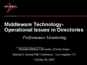 Middleware Technology Operational Issues in Directories Performance Monitoring
