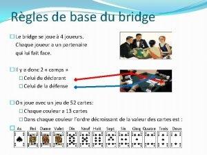 Rgles de base du bridge Le bridge se