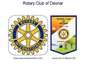 Rotary Club of Deonar Rotary International District 3140